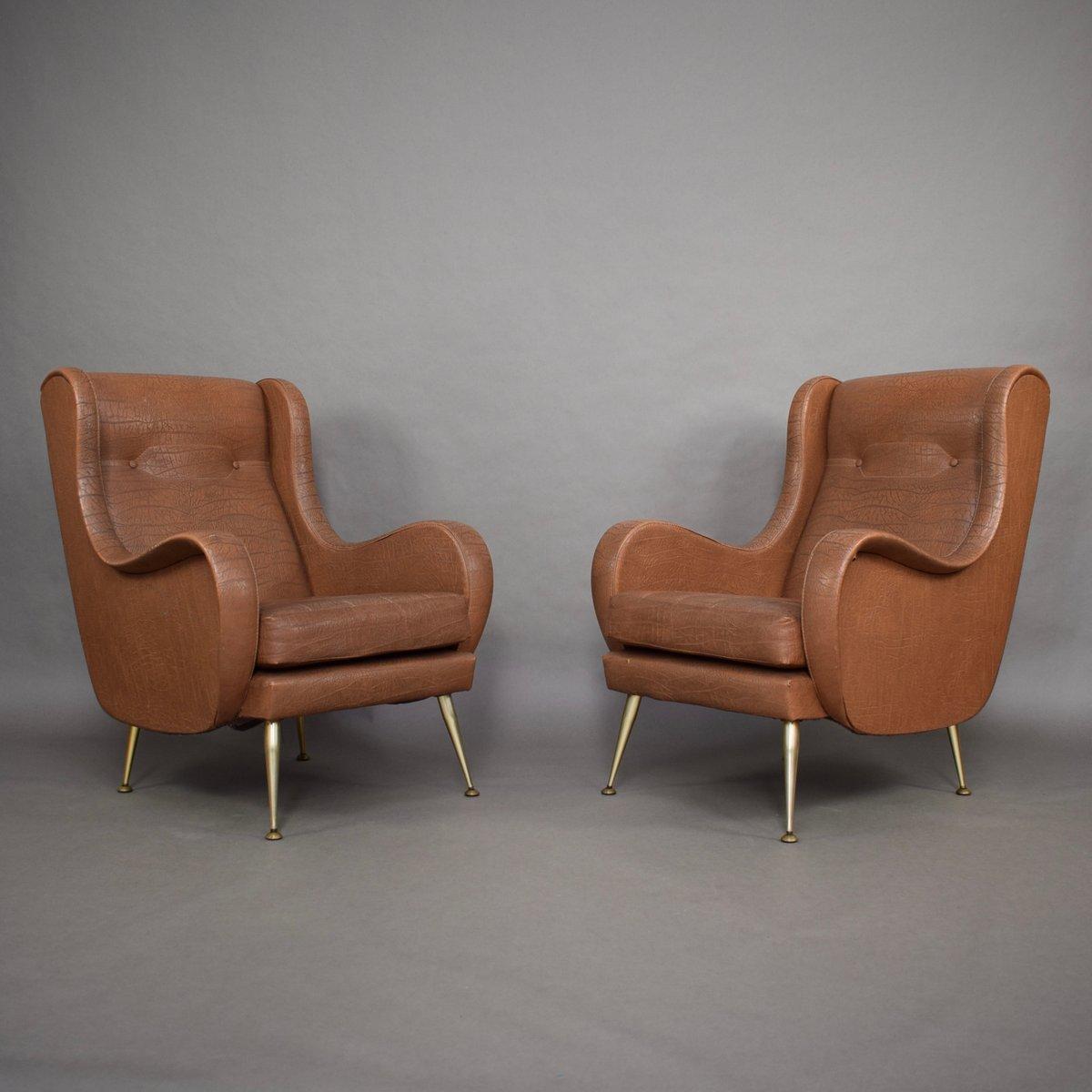 Italienische Vintage Sessel von Aldo Morbelli, 2er Set