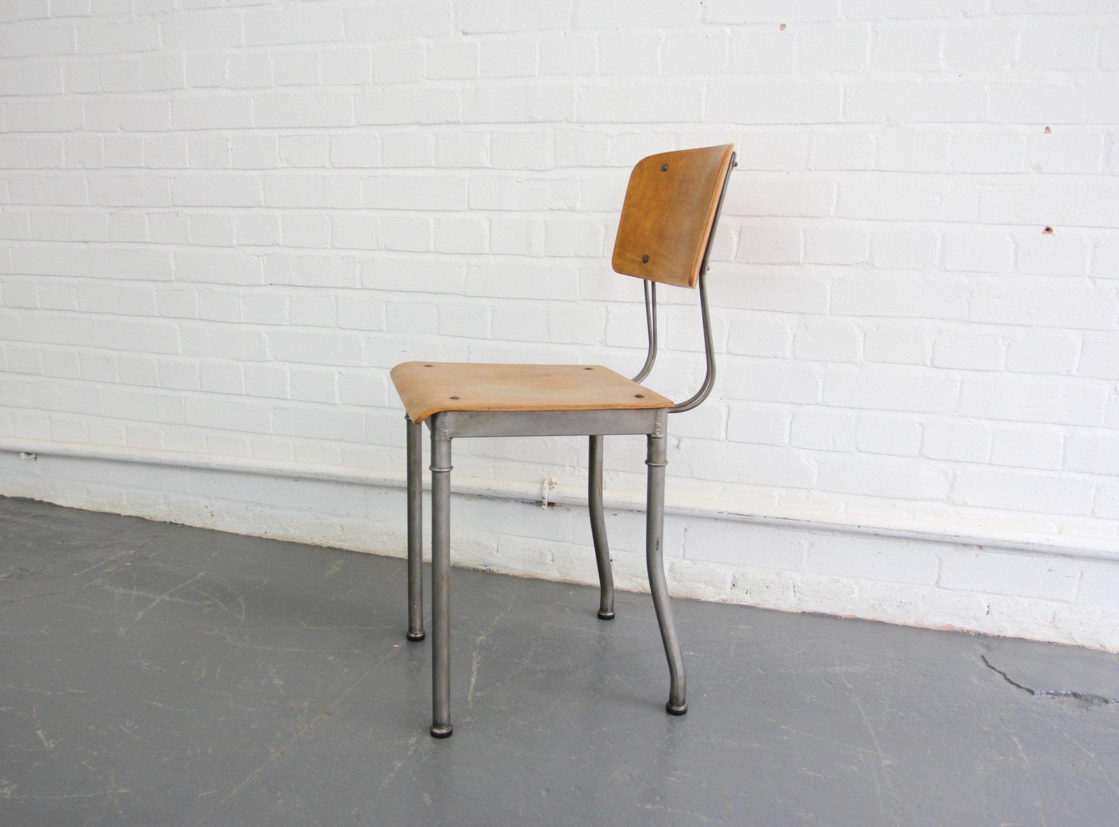 Chaise Vintage Moderniste Industrielle