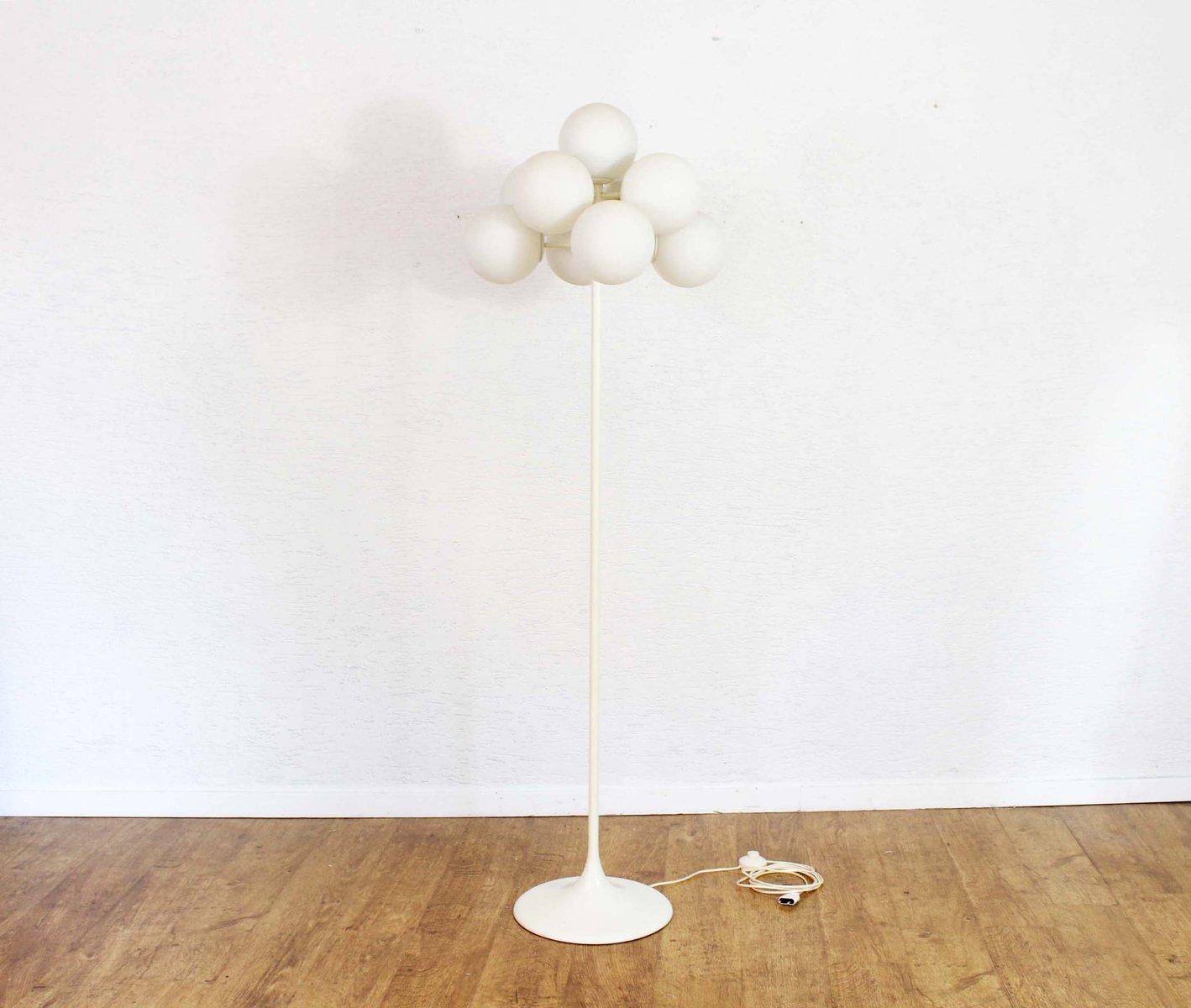 Vintage Stehlampe von Max Bill für Temde