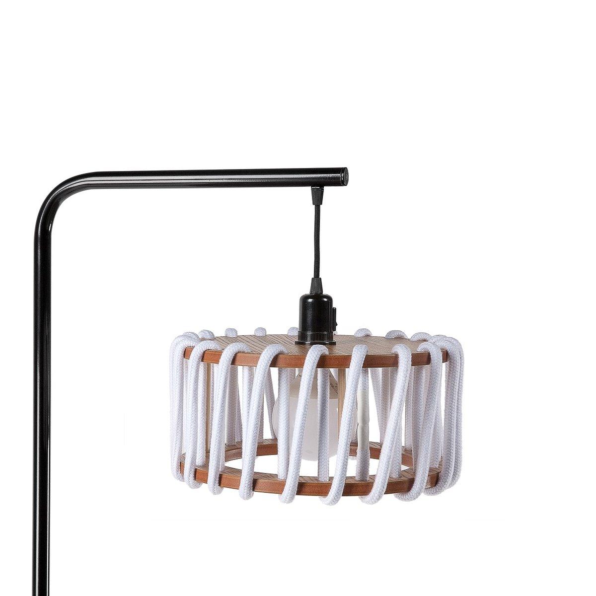 schwarze macaron stehlampe mit kleinem wei en schirm von silvia ce al f r emko bei pamono kaufen. Black Bedroom Furniture Sets. Home Design Ideas