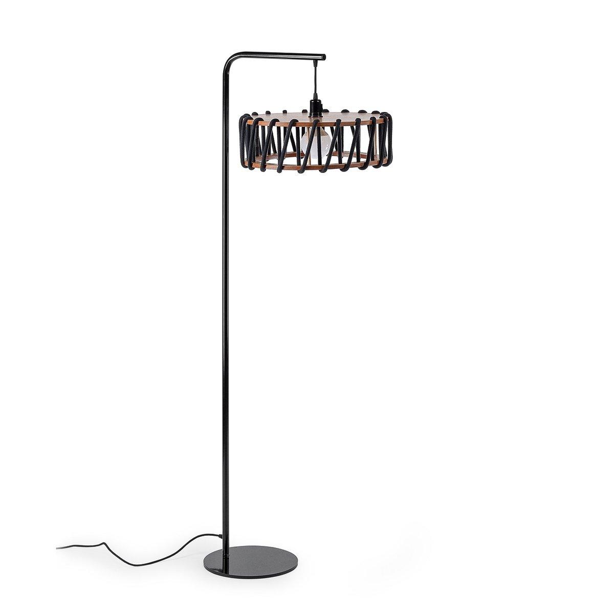 schwarze macaron stehlampe mit gro em schwarzen schirm von silvia ce al f r emko bei pamono kaufen. Black Bedroom Furniture Sets. Home Design Ideas