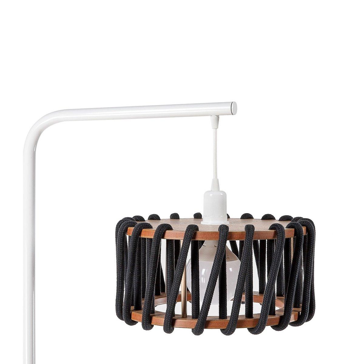 wei e macaron stehlampe mit kleinem schwarzen schirm von silvia ce al f r emko bei pamono kaufen. Black Bedroom Furniture Sets. Home Design Ideas