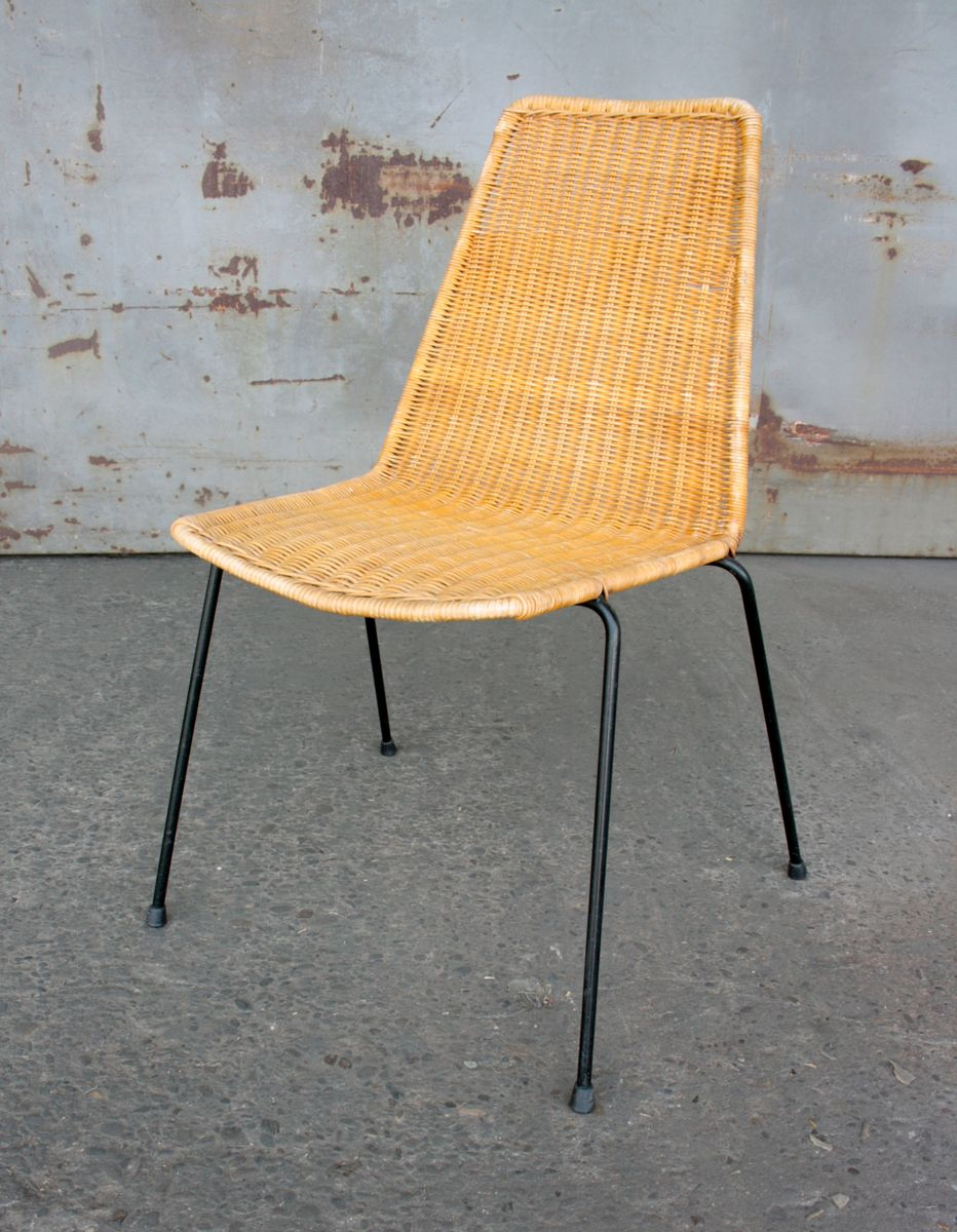 Mid Century Stackable Basket Chairs By Gian Franco Legler, Set Of 2