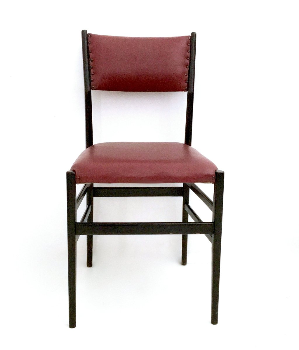 Bon Burgundy Leggera Chairs By Gio Ponti For Cassina, 1950s, Set Of 6