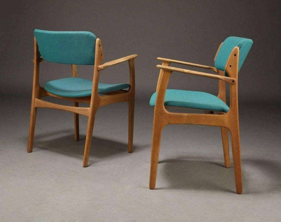 d nische st hle aus eichenholz von erik buch 1950er 3er set bei pamono kaufen. Black Bedroom Furniture Sets. Home Design Ideas