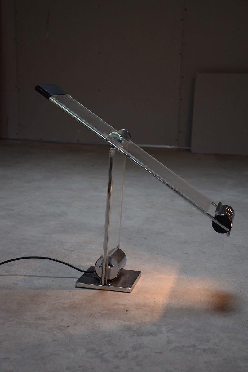 Transparente Tischlampe von Yonel Lebovici, 1979