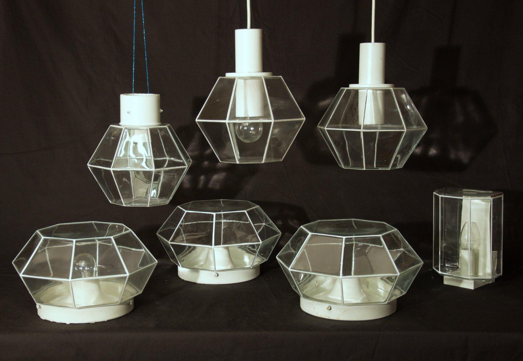 Diamond Lampen von Limburg, 1960er, 7er Set