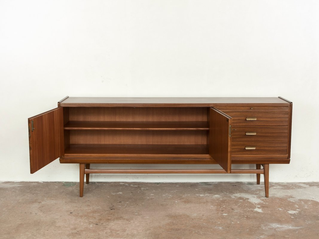 mid century zebrano wood sideboard from b r m bel for sale at pamono. Black Bedroom Furniture Sets. Home Design Ideas