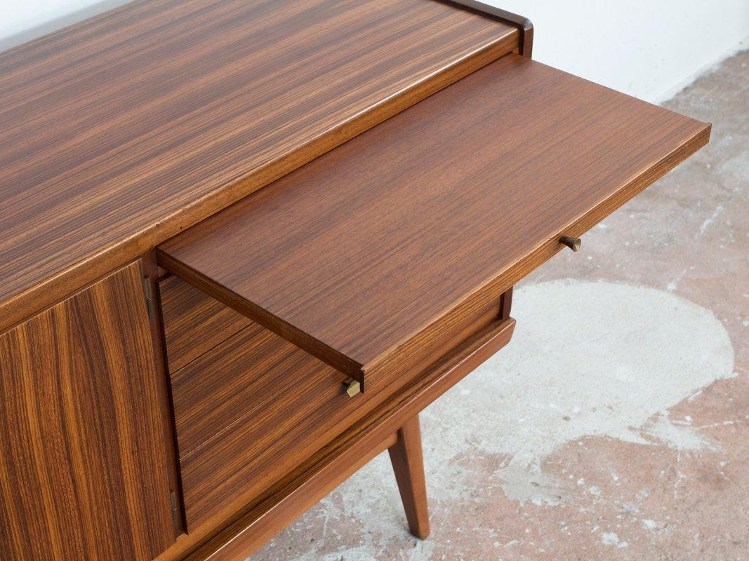 mid century zebranoholz sideboard von b r m bel bei pamono. Black Bedroom Furniture Sets. Home Design Ideas