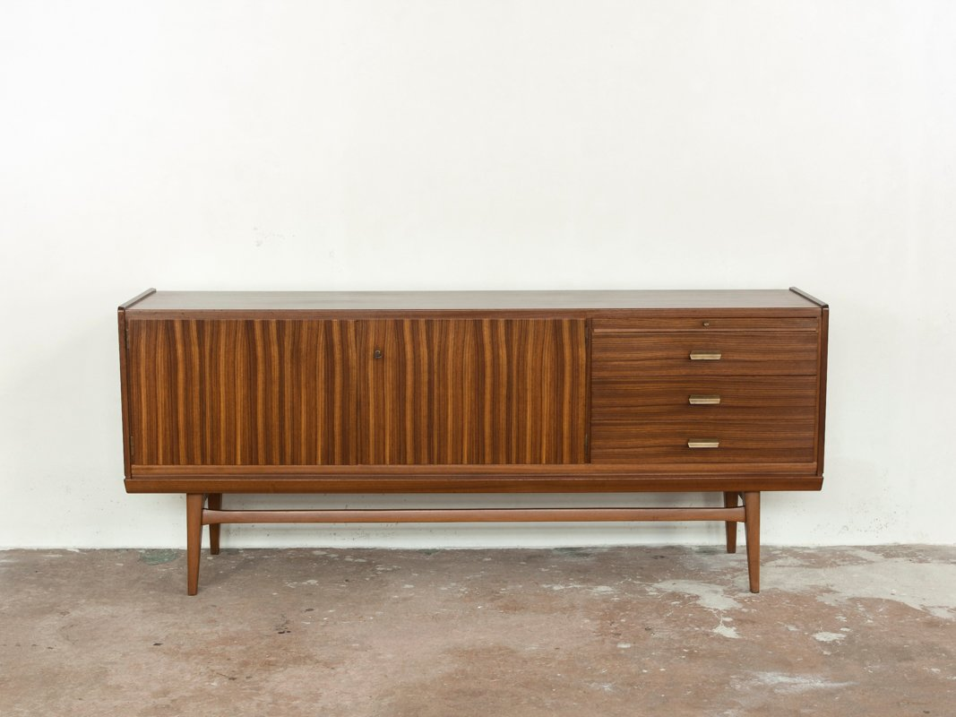 Mid Century Zebrano Wood Sideboard From Bar Mobel For Sale At Pamono