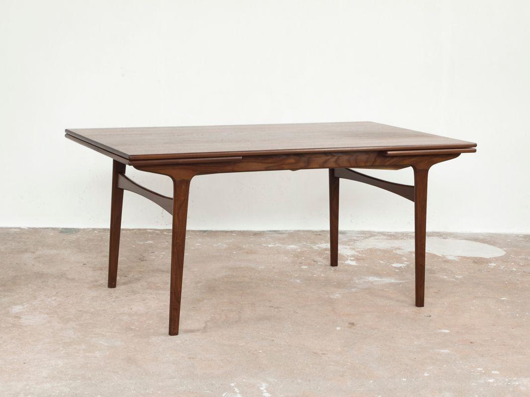 table de salle manger mid century en teck par johannes andersen pour uldum m belfabrik en. Black Bedroom Furniture Sets. Home Design Ideas