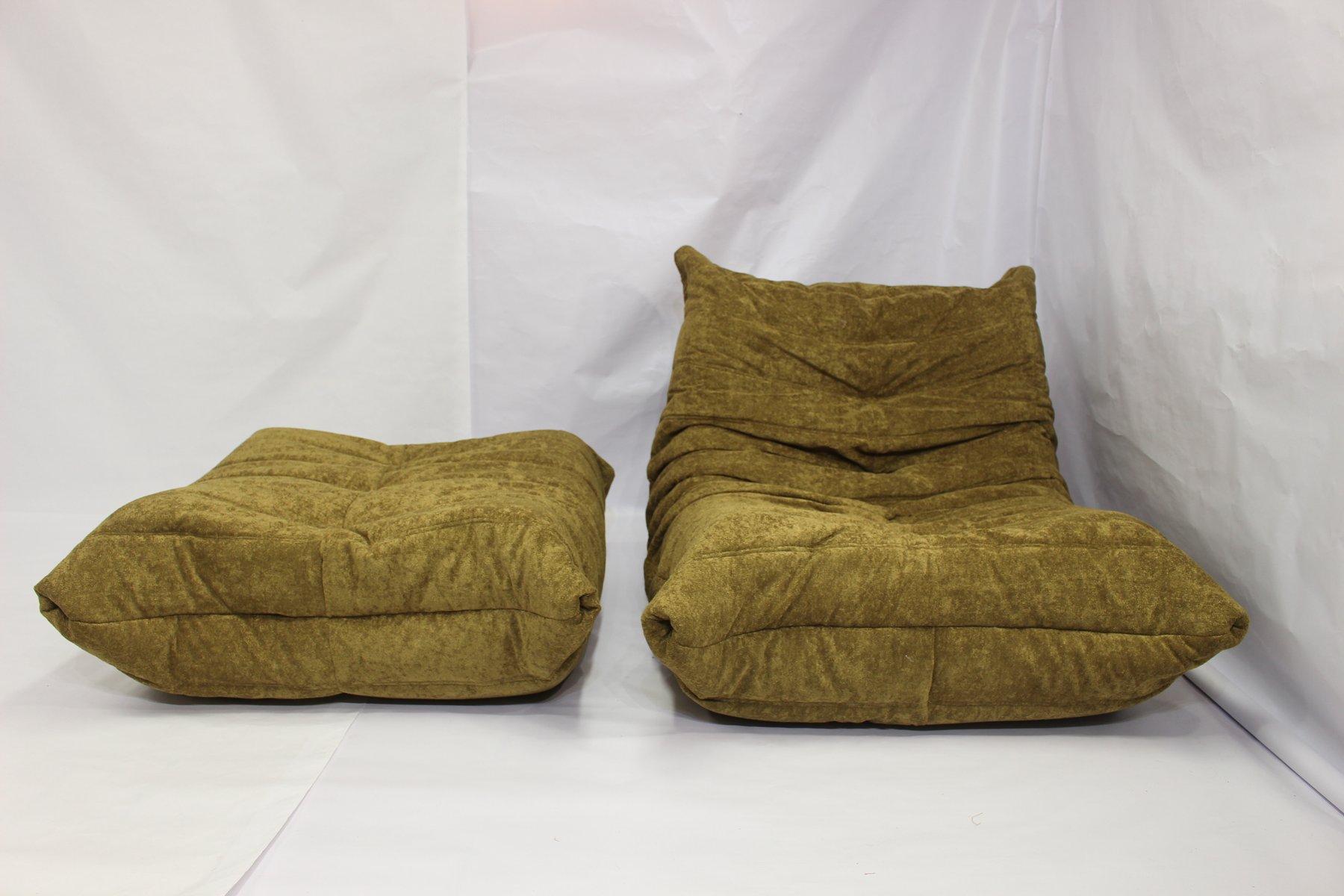 togo sessel fu hocker von michel ducaroy f r ligne roset 1970er bei pamono kaufen. Black Bedroom Furniture Sets. Home Design Ideas