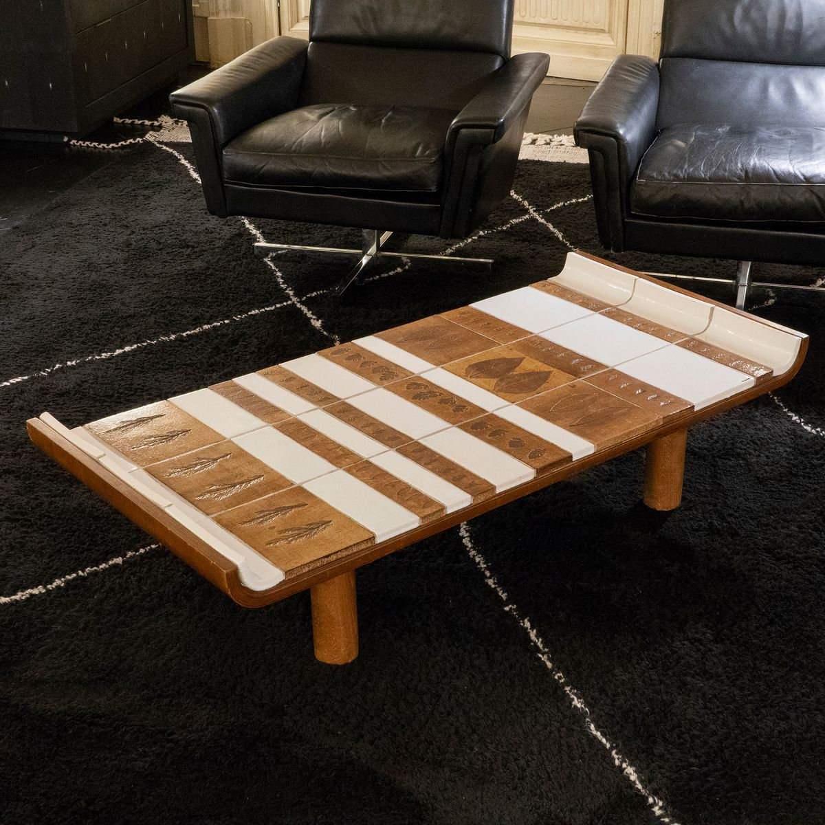 Garrigue Ceramic Tiled Coffee Table By Roger Ca 1960s