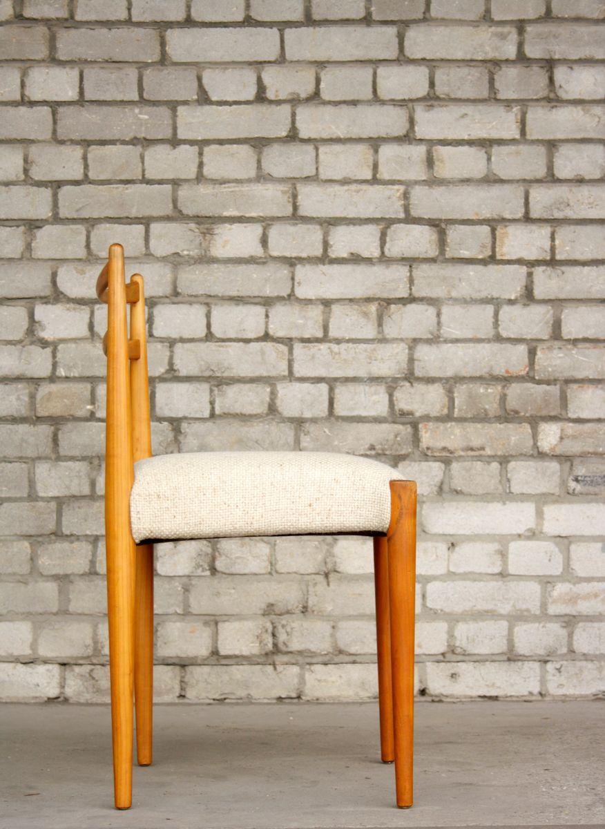 Minimalistischer mid century stuhl aus kirschholz wolle bei pamono kaufen - Mid century stuhl ...