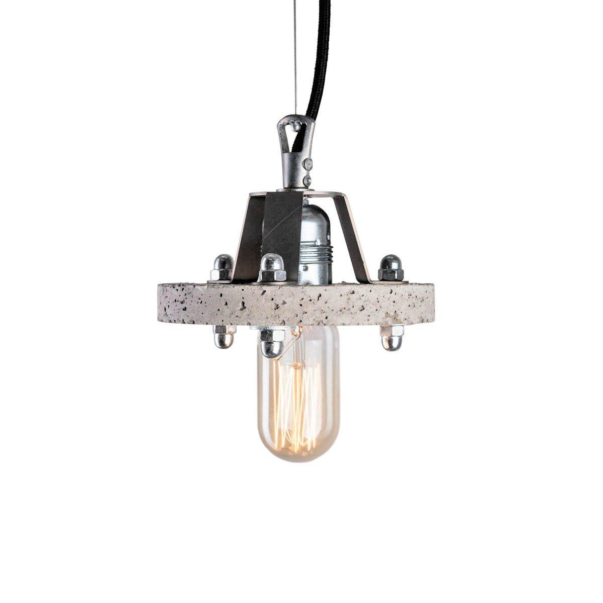Levels 1A Lampe aus grauem Zement von Adrian Purga?