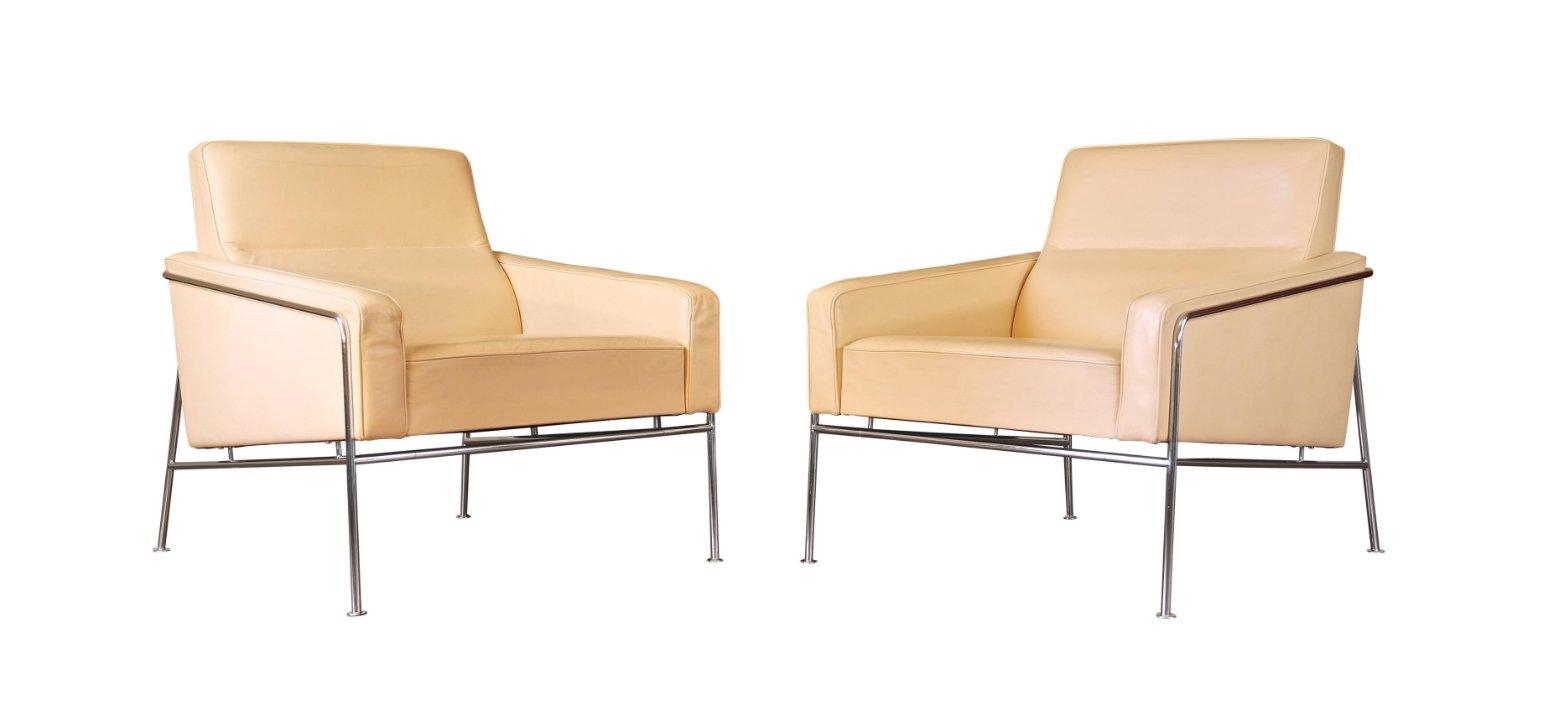 Dänischer Series 3300 Leder Sessel von Arne Jacobsen für Fritz Hansen,...
