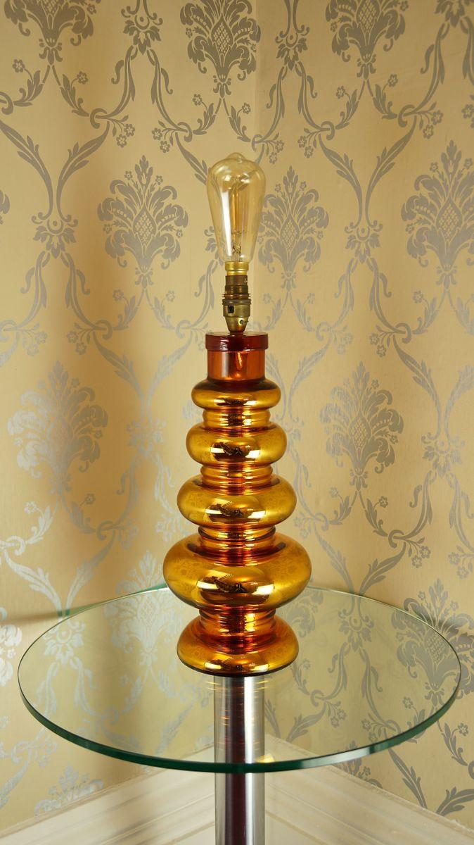 Gold Mercury Glass Table Lamp from Johansfors Glasbruk, 1960s for ...