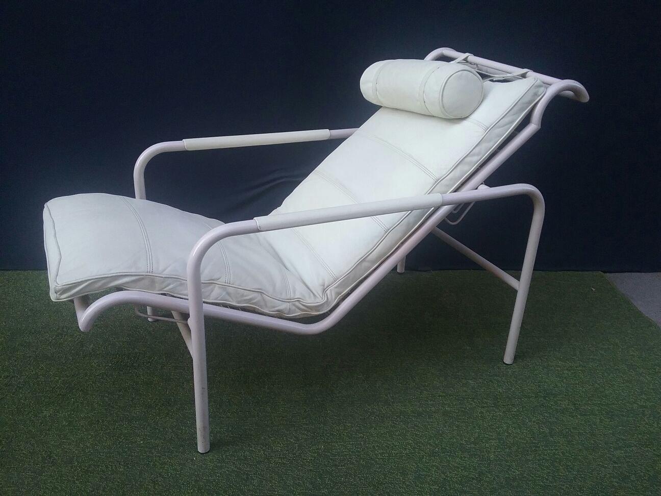 wei er vintage sessel von gabriele mucchi f r zanotta bei pamono kaufen. Black Bedroom Furniture Sets. Home Design Ideas