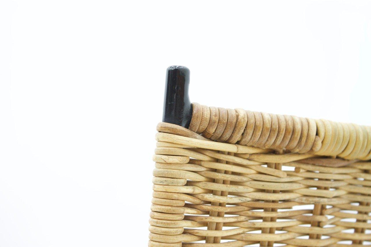 esszimmerst hle aus korbgeflecht metall von erlau 1960er 4er set bei pamono kaufen. Black Bedroom Furniture Sets. Home Design Ideas