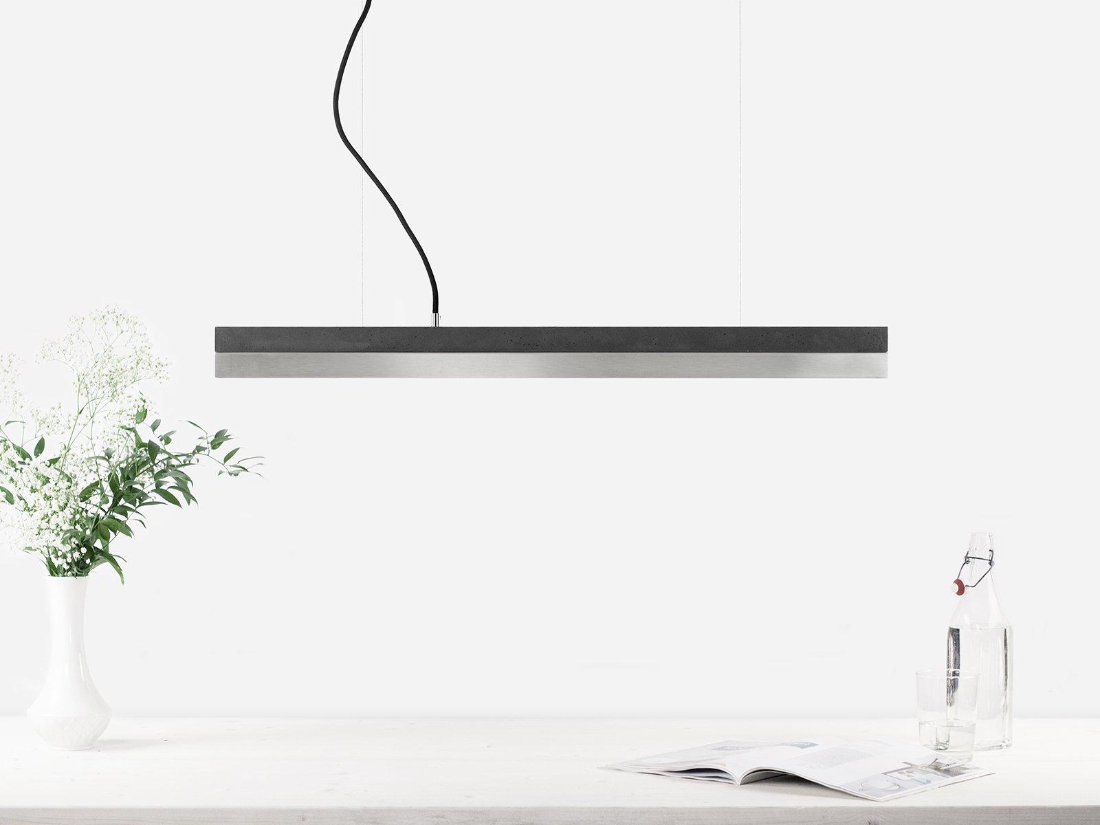 C2 dark concrete stainless steel pendant light by stefan gant for gantlights