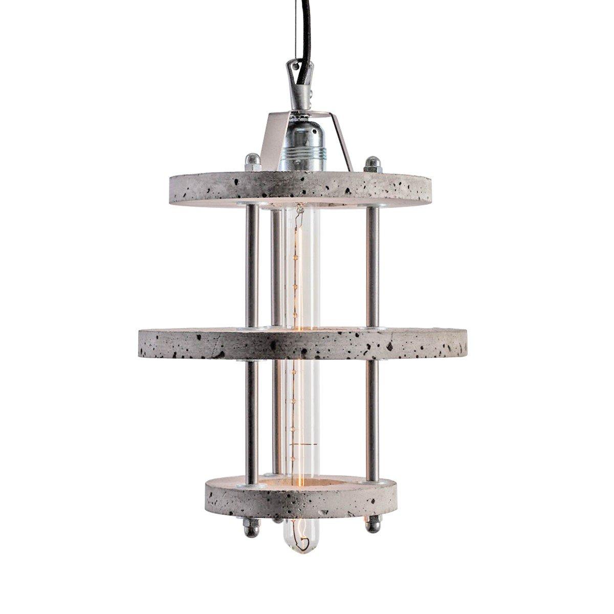 Modell Levels 3BCA Lampe aus grauem Zement von Adrian Purga?