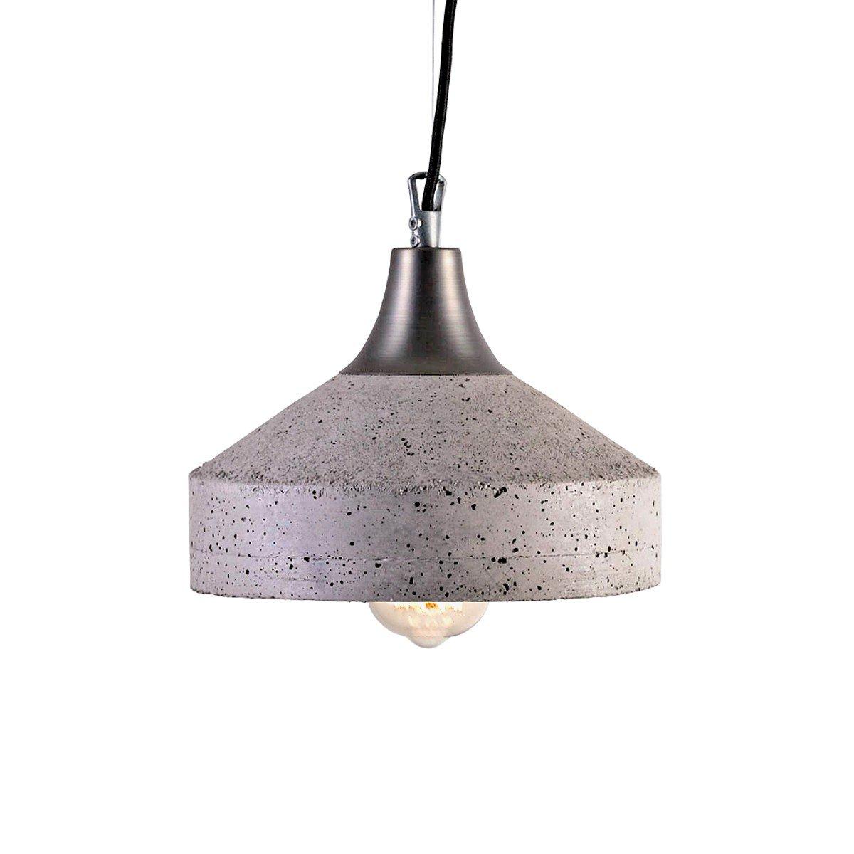 Vulcano Lampe aus grauem Zement von Bogumi? Gala für Galaeria