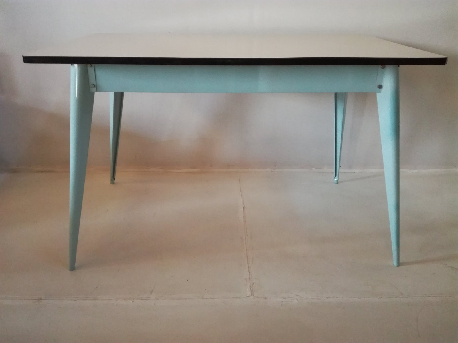 Xavier pauchard french industrial dining room furniture Pauchard Pair Vintage Dining Table By Xavier Pauchard For Tolix Design Within Reach Vintage Dining Table By Xavier Pauchard For Tolix For Sale At Pamono