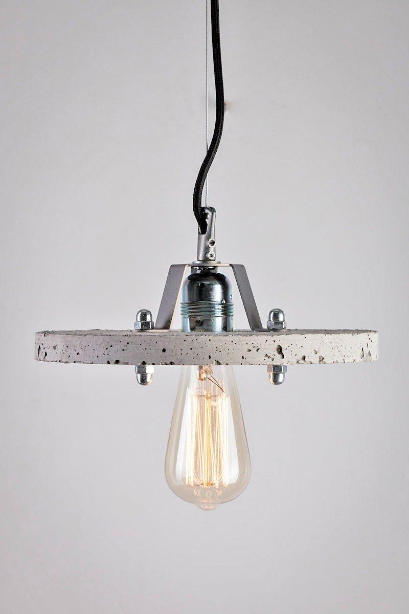 Levels 1C Lampe aus grauem Zement von Adrian Purga? für Galaeria Facto...