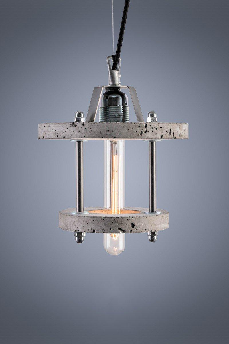 Levels 2BA Lampe aus grauem Zement von Adrian Purga? für Galaeria Fact...