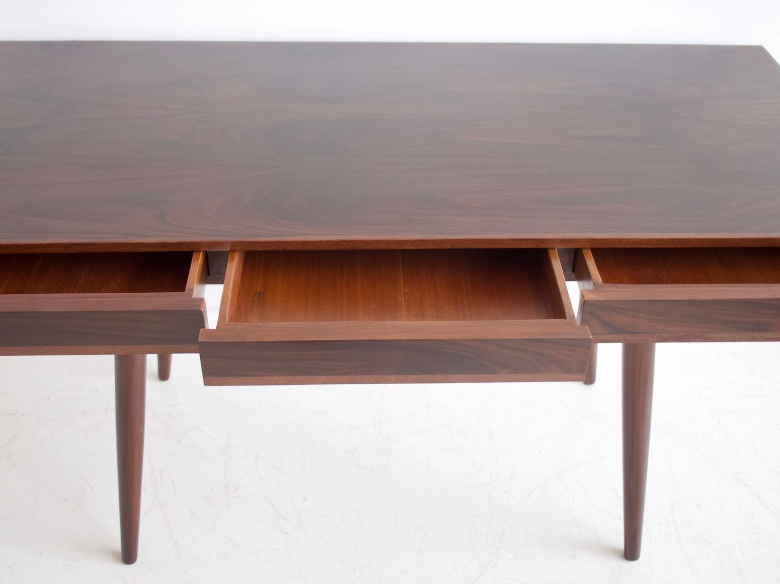 schreibtisch mit drei schubladen 1960er bei pamono kaufen. Black Bedroom Furniture Sets. Home Design Ideas