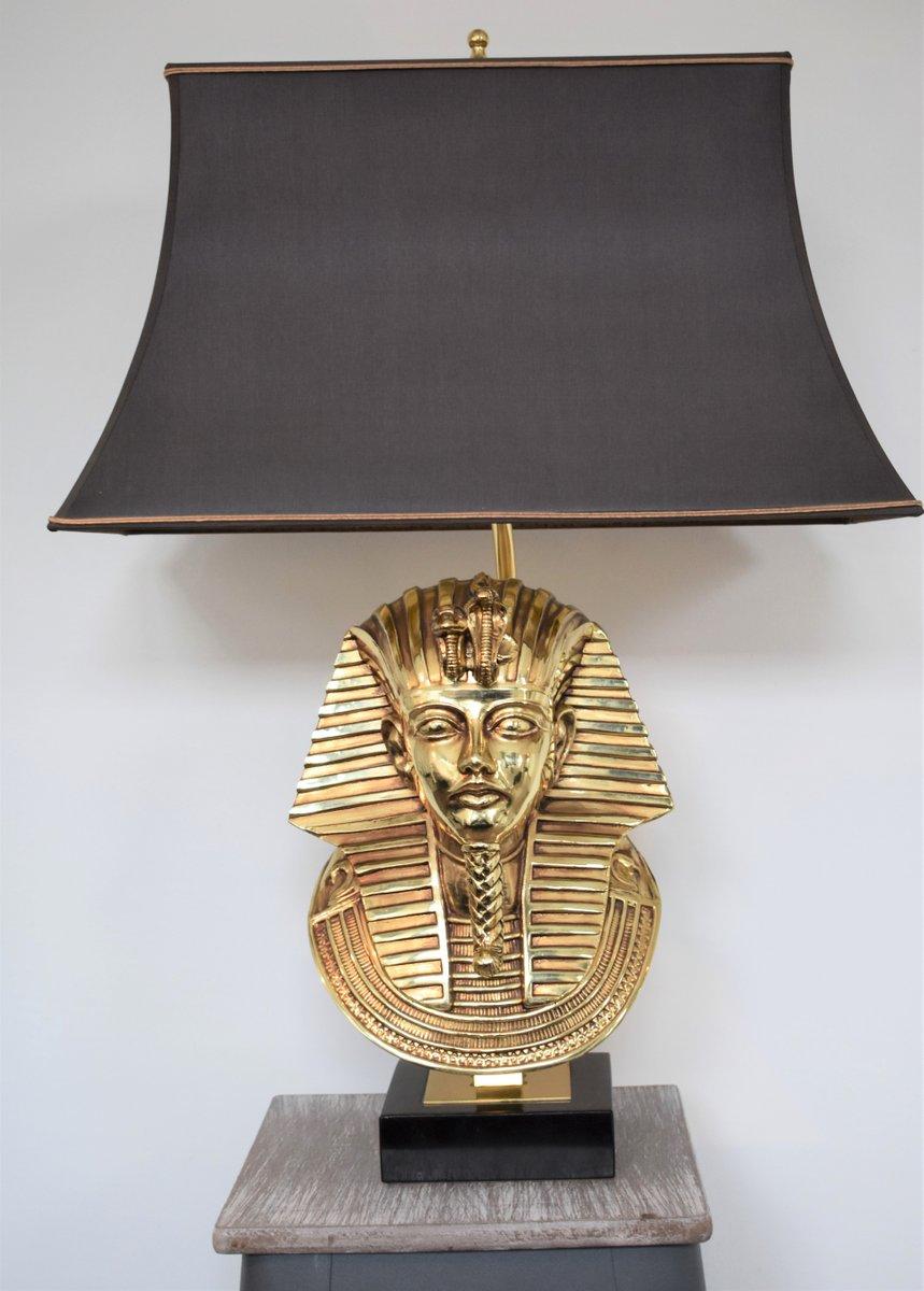 Hollywood Regency Pharaoh Tischlampe von Maison Jansen für Deknudt, 19...