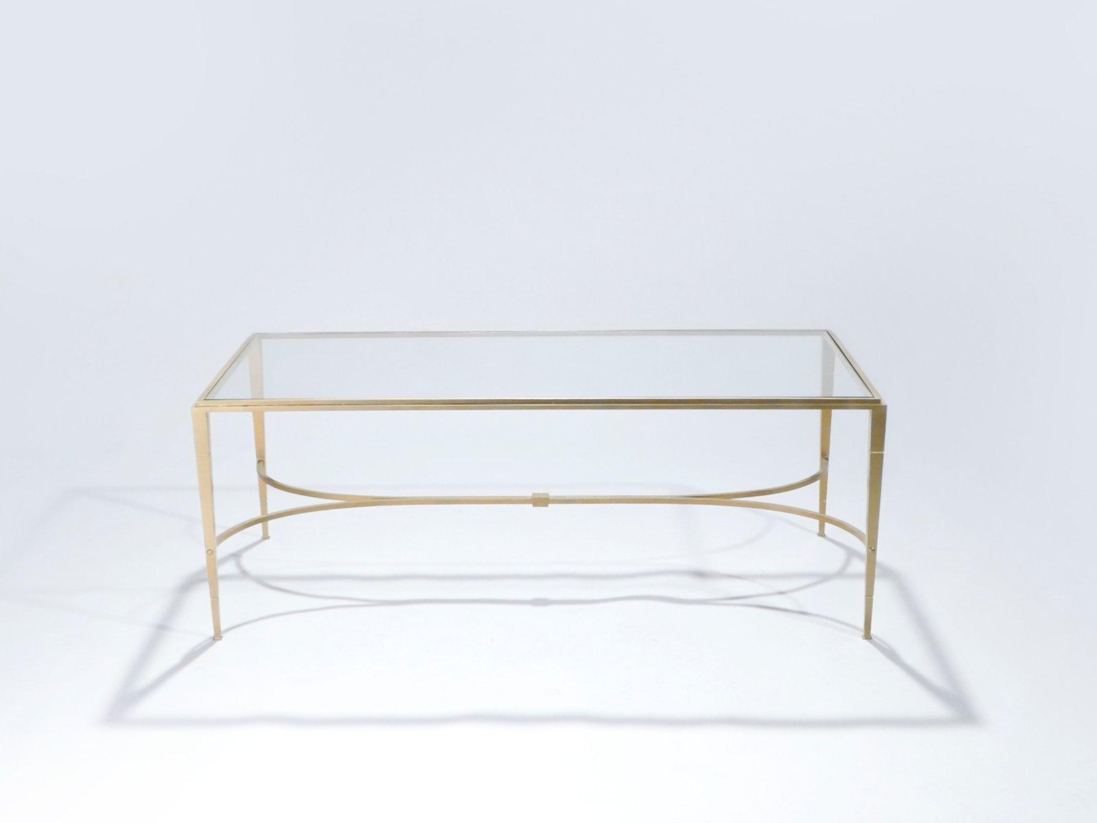 Vergoldeter Schmiedeeisen Couchtisch von Maison Ramsay, 1960er
