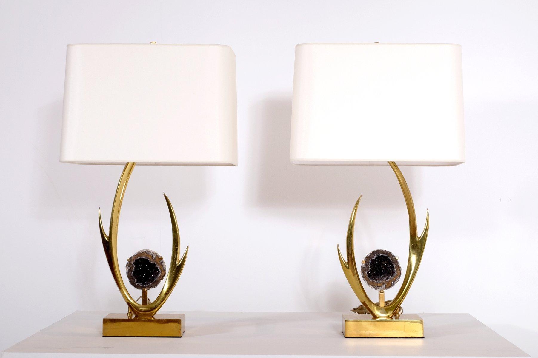 Skulpturale Tischlampen von Willy Daro, 1970er, 2er Set