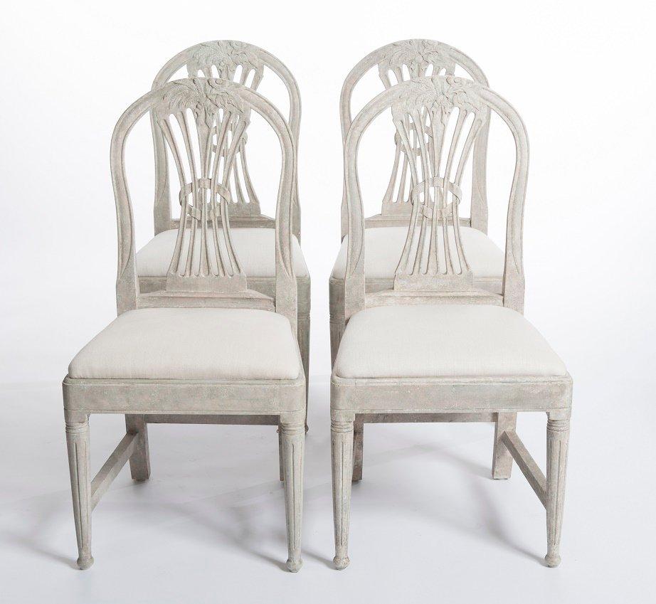 antike schwedische buchenholz st hle set of 4 bei pamono kaufen. Black Bedroom Furniture Sets. Home Design Ideas