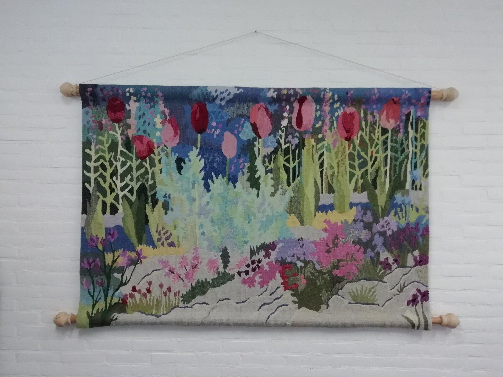 Großer bunter Wandteppich von Mira, 1960er | Heimtextilien > Teppiche > Wandteppich | Mehrfarbig | Wolle