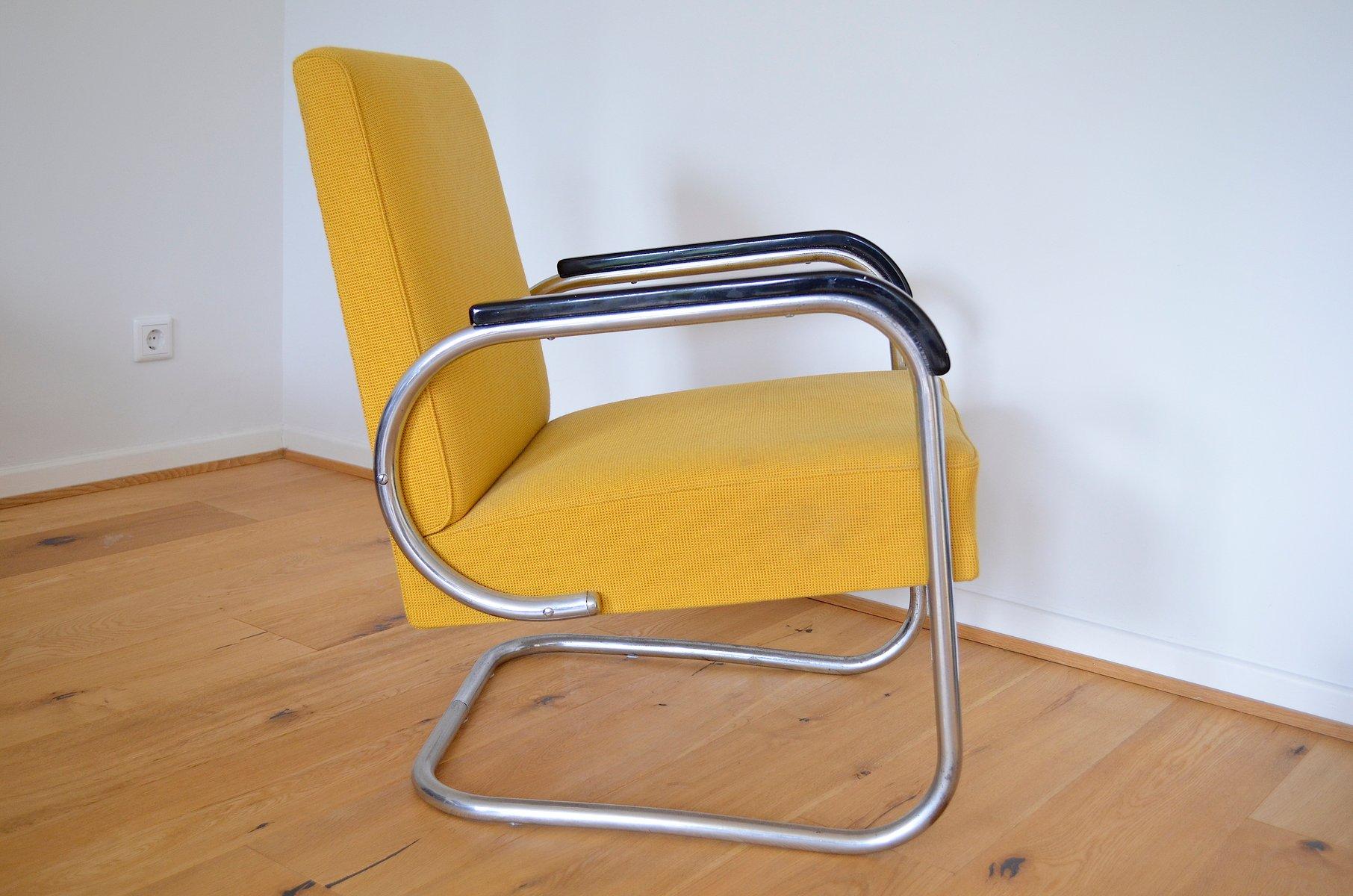 stahlrohr sessel von hayek gottwald 1930er bei pamono kaufen. Black Bedroom Furniture Sets. Home Design Ideas