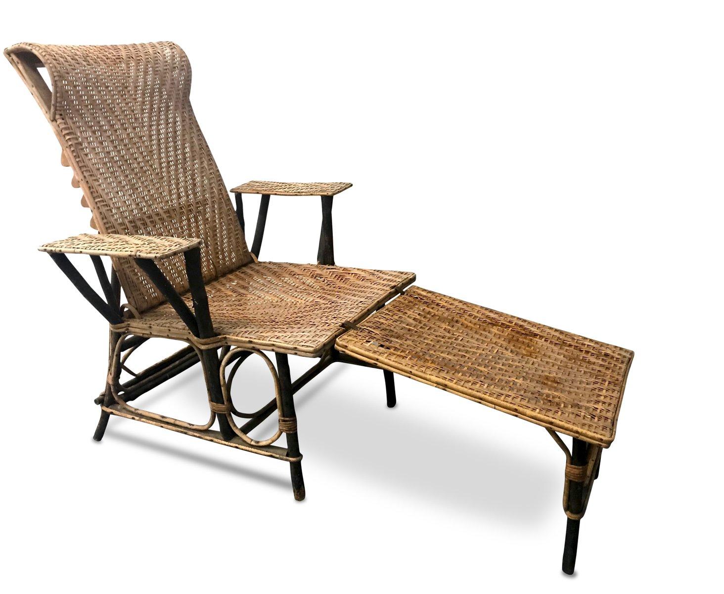 fauteuil vintage en osier bambou france - Fauteuil Bambou