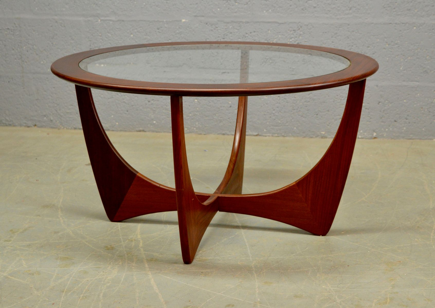 Mid Century Round Teak Astro Coffee Table By Victor Wilkins For G Plan