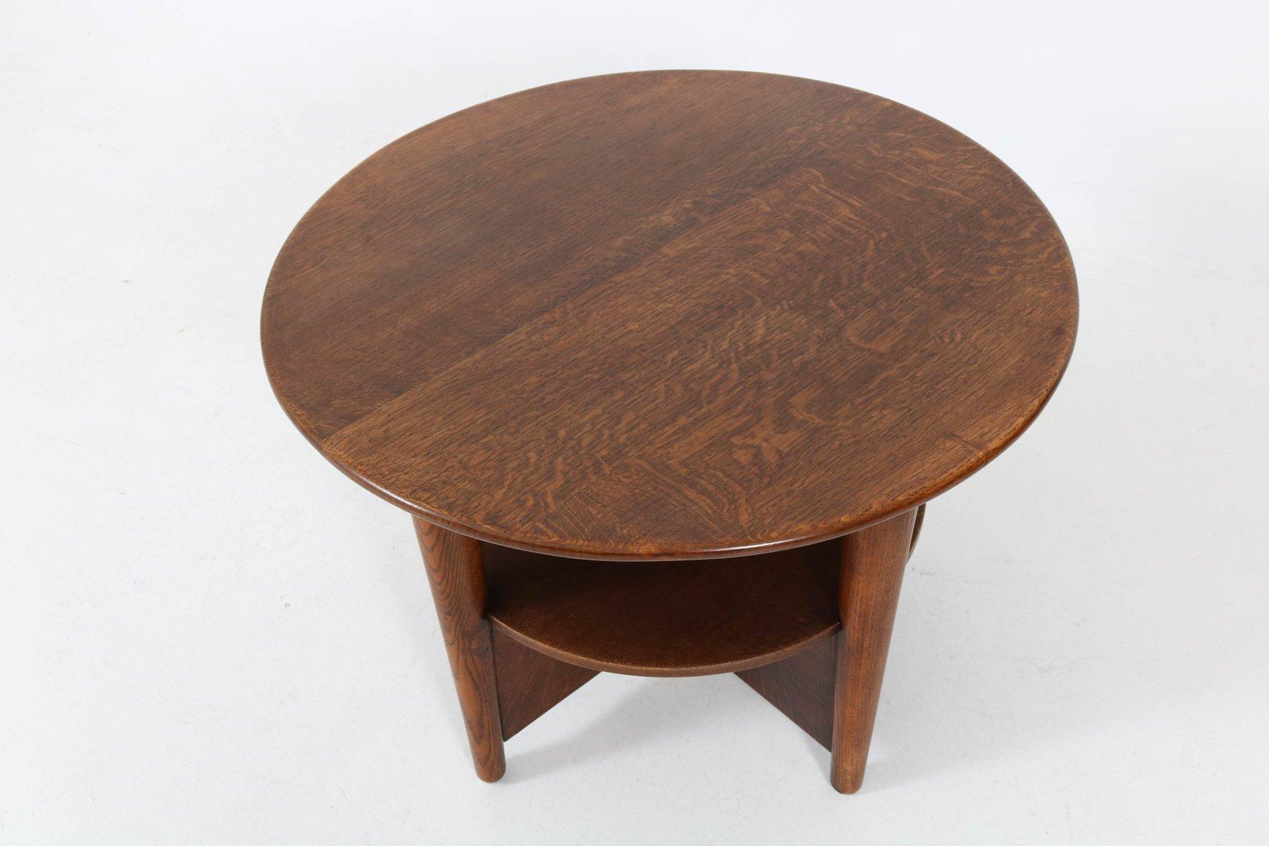 niederl ndischer art deco eichenholz couchtisch bei pamono kaufen. Black Bedroom Furniture Sets. Home Design Ideas