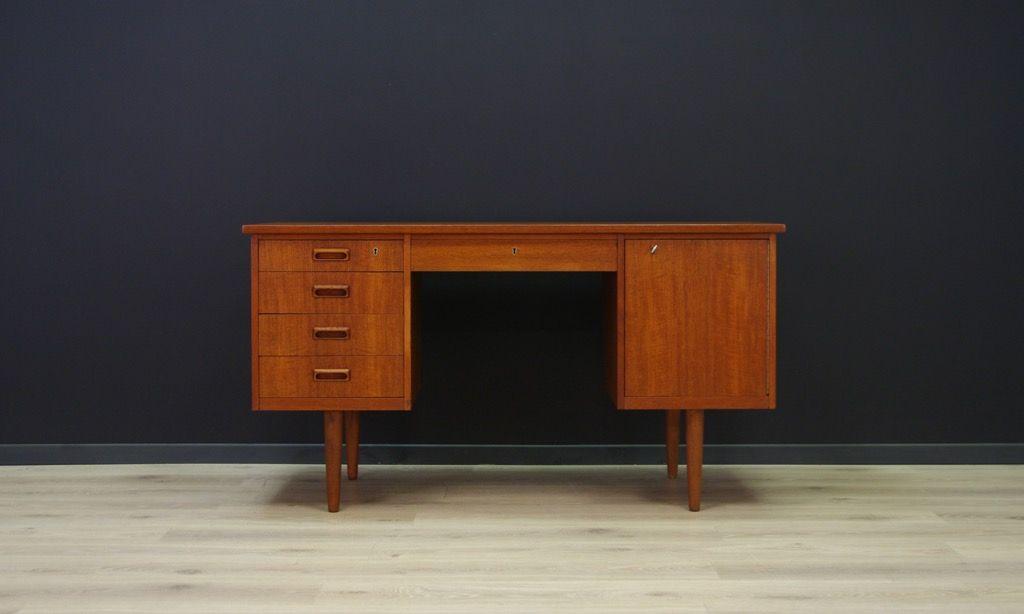 d nischer vintage schreibtisch in teak bei pamono kaufen. Black Bedroom Furniture Sets. Home Design Ideas