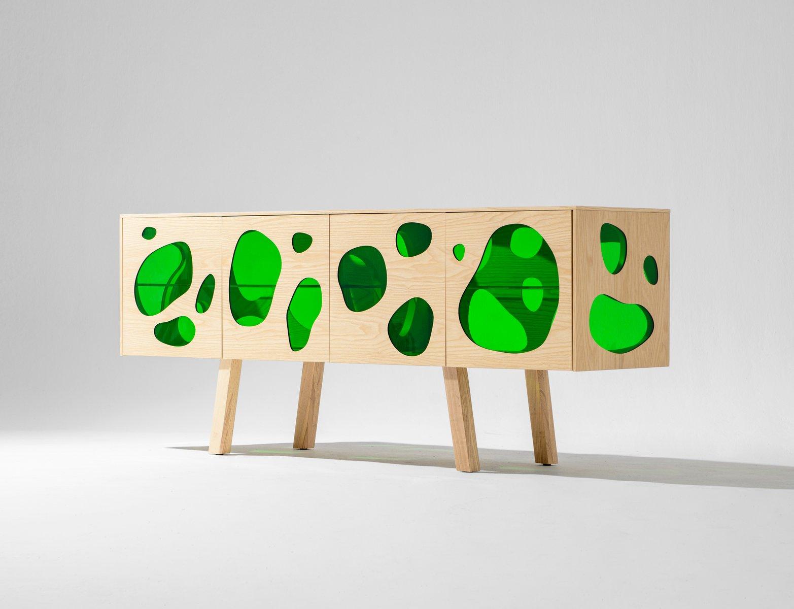 Aquário Cabinet aus Esche & Grünglas von Campana Brothers für BD Barce...