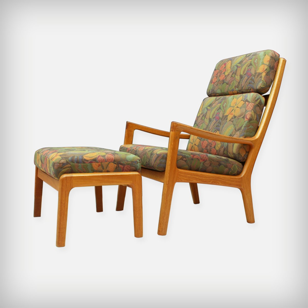 Magnificent Danish Teak Senator Lounge Chair With Ottoman By Ole Wanscher For Poul Jeppesens Mobelfabrik A S 1970S Gmtry Best Dining Table And Chair Ideas Images Gmtryco