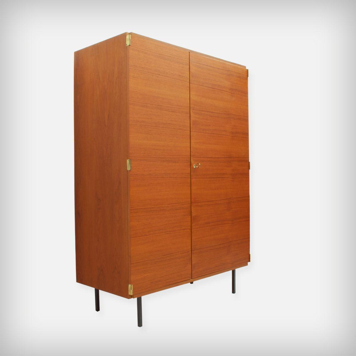 armoire en teck par g nter renkel pour rego mobile m bel allemagne 1960s en vente sur pamono. Black Bedroom Furniture Sets. Home Design Ideas