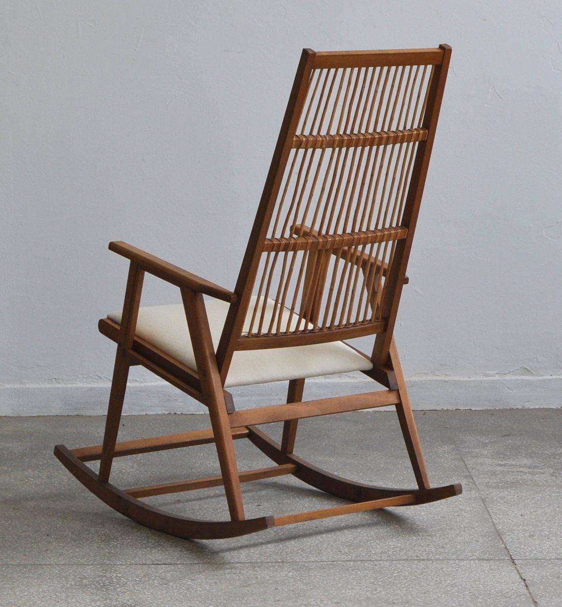 vintage rattan rocking chair for sale at pamono. Black Bedroom Furniture Sets. Home Design Ideas