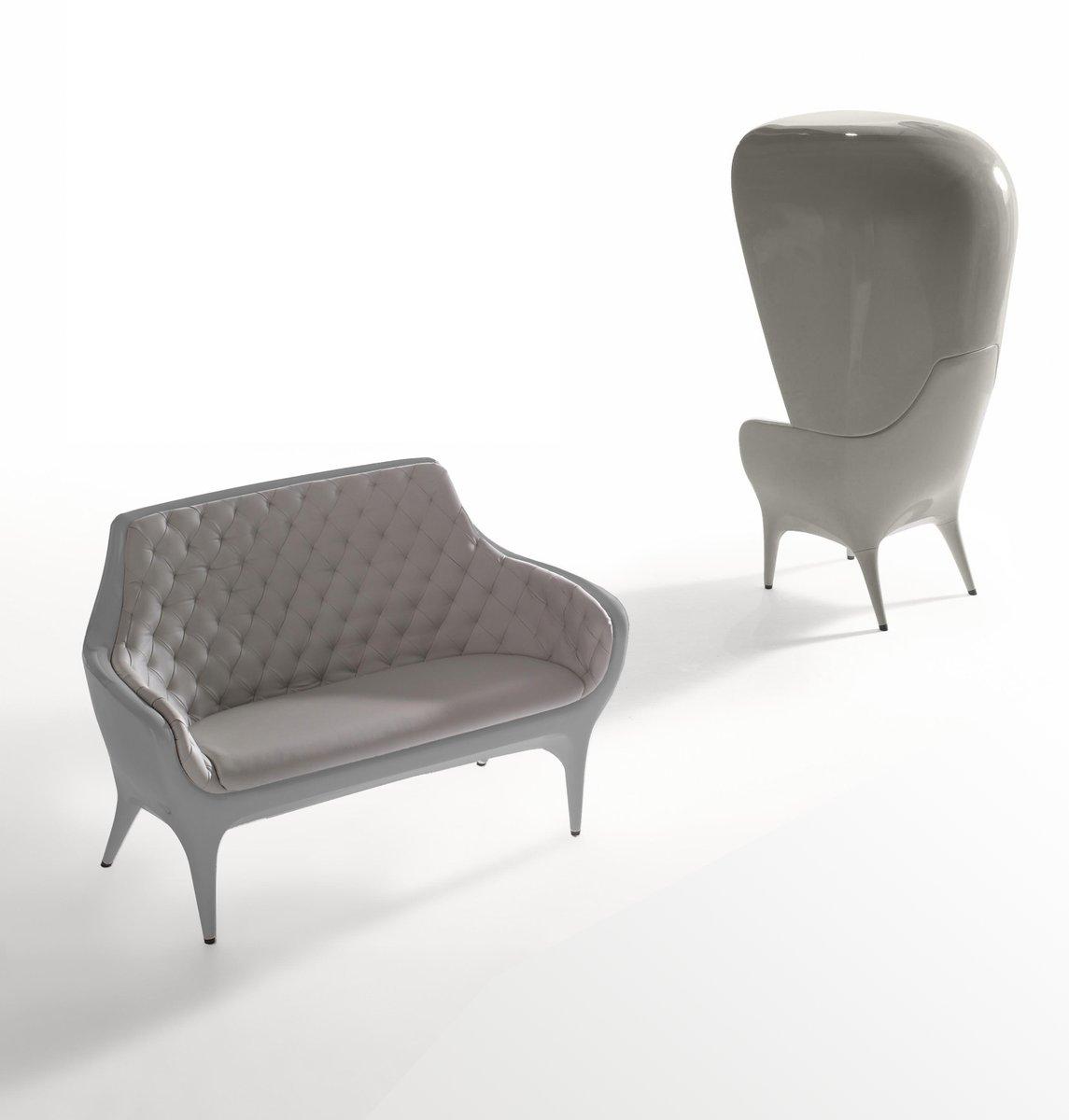 fauteuil d 39 ext rieur gris bleu showtime par jaime hayon pour bd barcelona en vente sur pamono. Black Bedroom Furniture Sets. Home Design Ideas