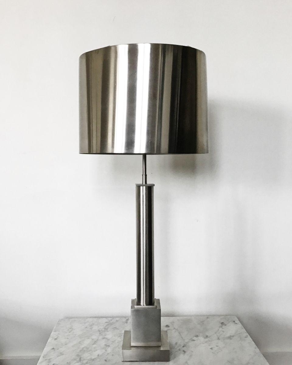 Französische Vintage Colonne Tischlampe von Maison Charles