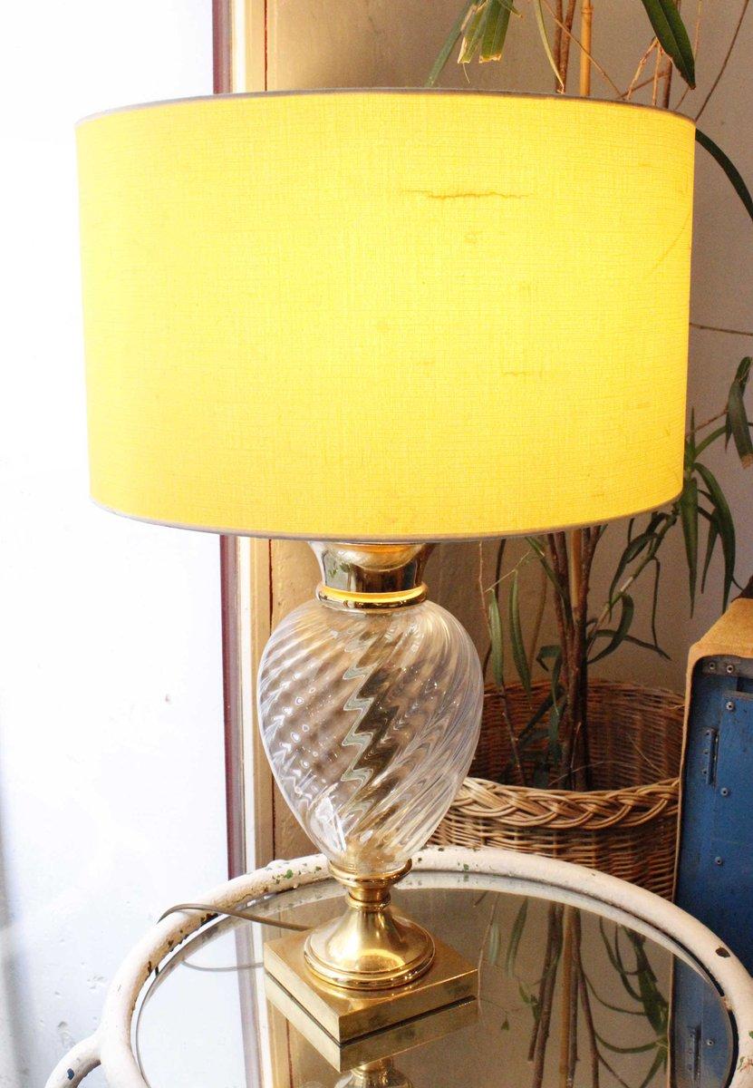 Spanische Glas Lampe, 1960er