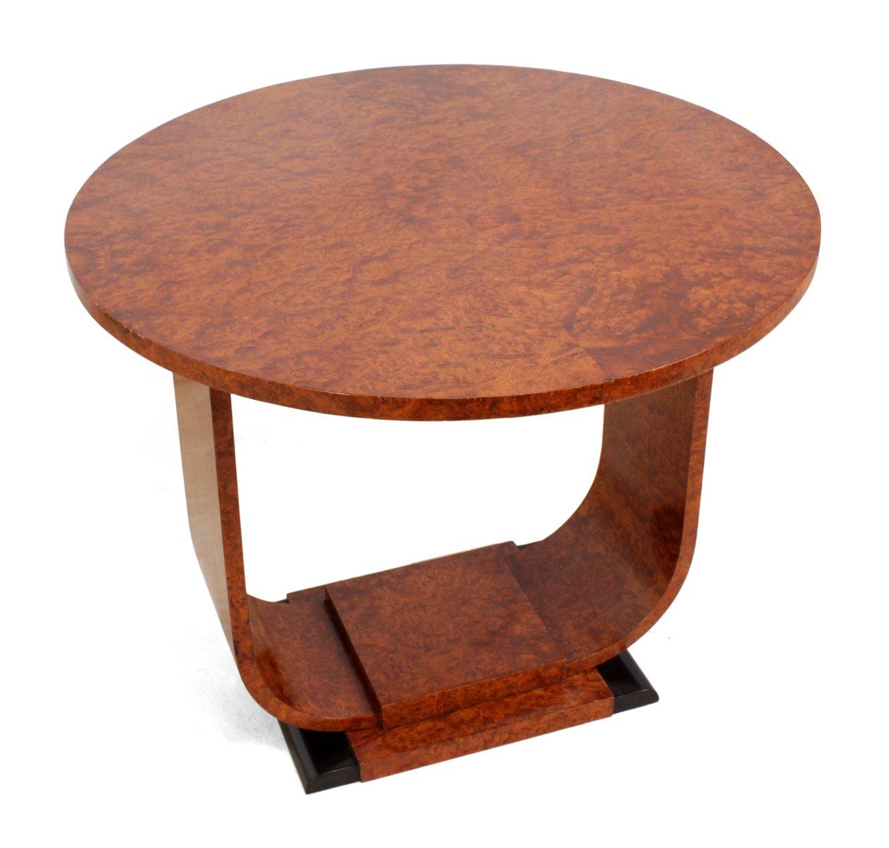 Art Deco Wurzel Walnuss Tisch 1920er Bei Pamono Kaufen