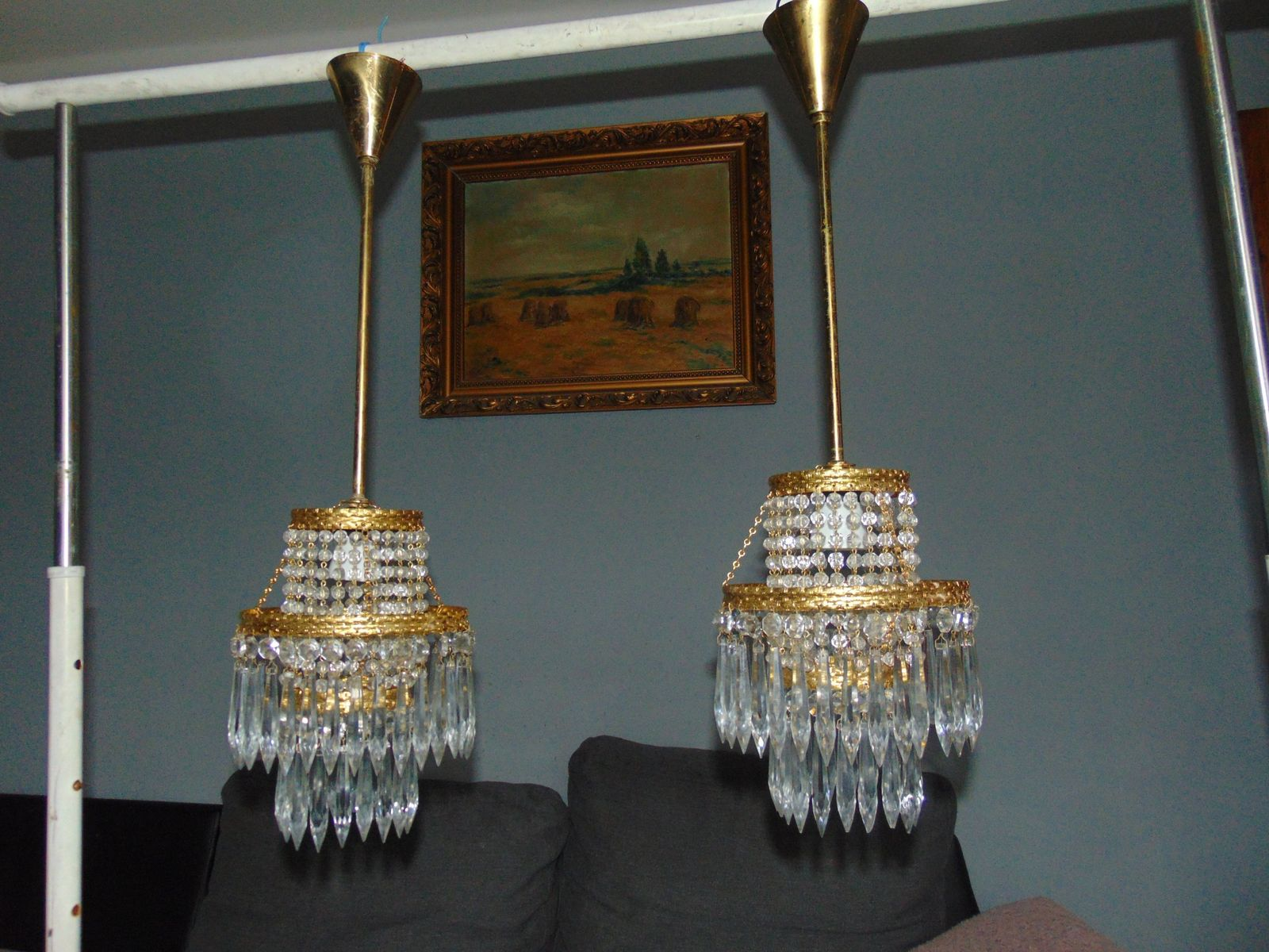 lampe suspension en cristal de jablonec vintage en vente sur pamono. Black Bedroom Furniture Sets. Home Design Ideas