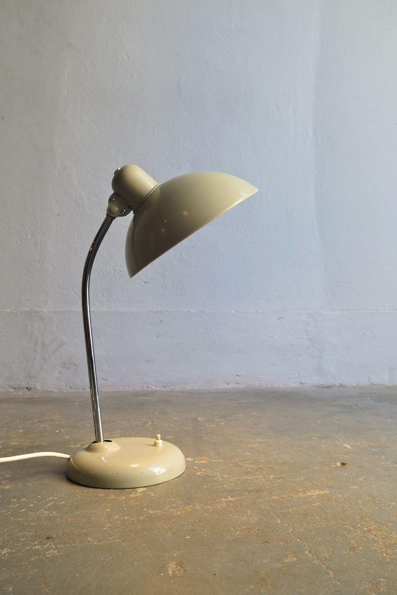 Industrielle graue Vintage Schreibtischlampe